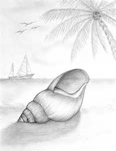 Simple Scenery The Scenery Contains Mountain A Tree Birds Boat Pencil Sketch Drawing Beach Drawing Drawing Sketches