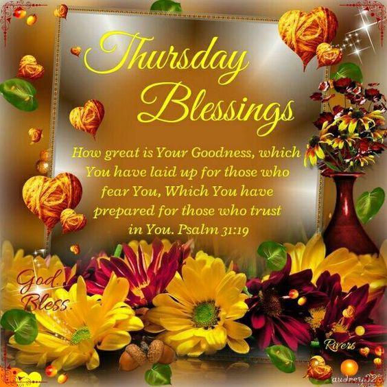 Thursday Blessings. Psalm 31:19