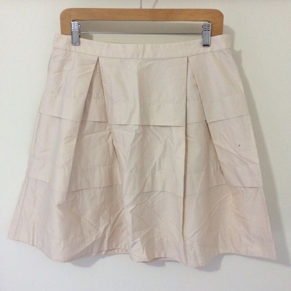 J. Crew Tiered Light Khaki Skirt J. Crew Tiered Light Khaki Skirting excellent condition. J. Crew Skirts