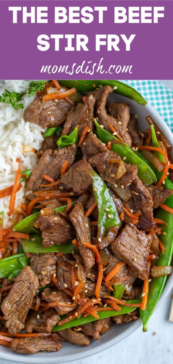 This Beef Stir Fry is literally the best stir fry you'll ever try. It cooks in under 30 minutes, is rich in flavors and reheats amazingly well. #healthystirfry