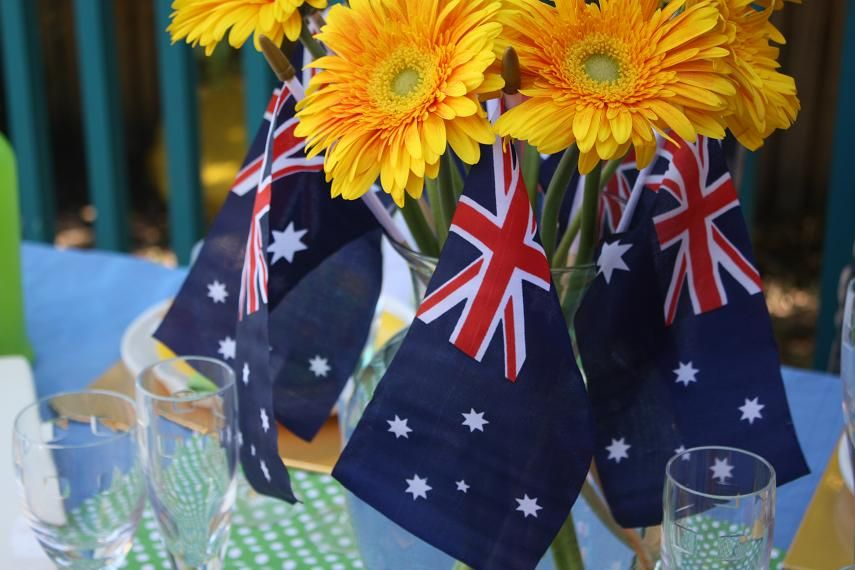 Google image result for httppinkfrostingimages australian flag and yellow gerbera table centrepiece junglespirit Gallery