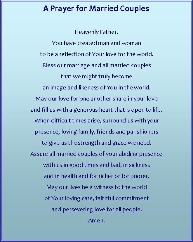 A Prayer for Married Couples | Faith | Prayer for married