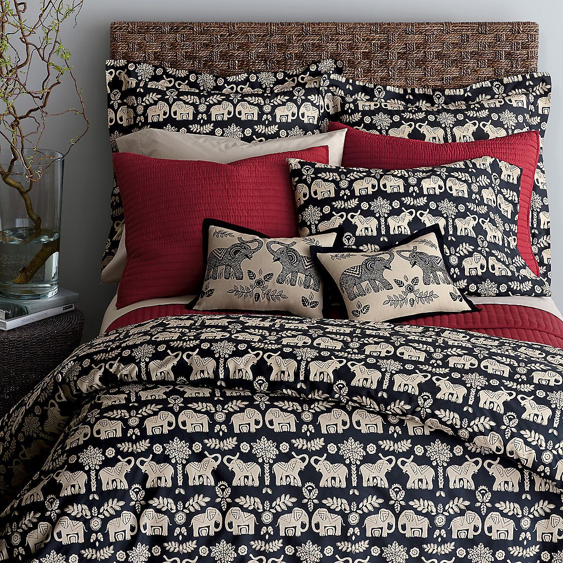 ethnic indian elephant mandala print bedding duvet quilt cover