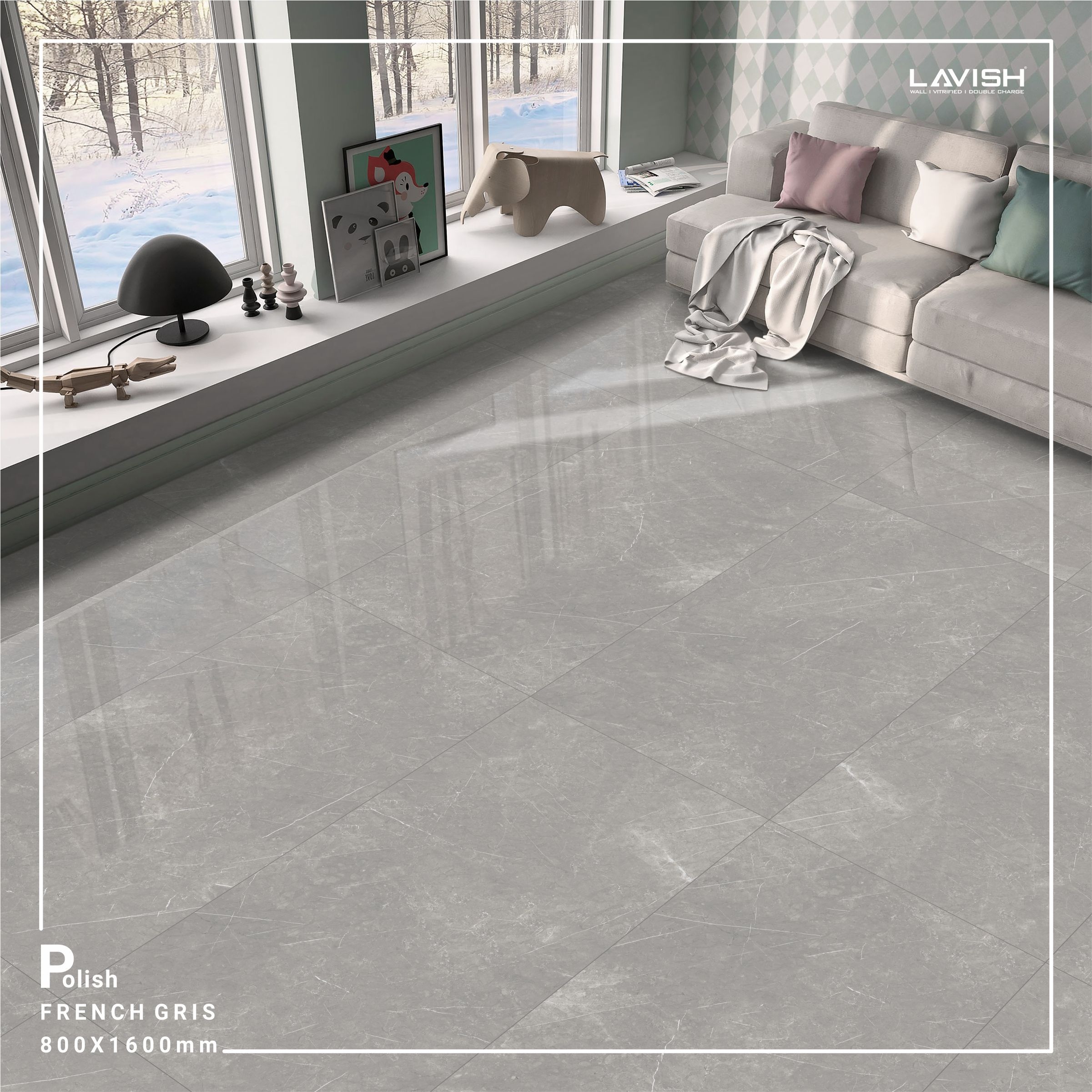 Design Your Living Room With Polish French Gris 800x1600mm In 2020
