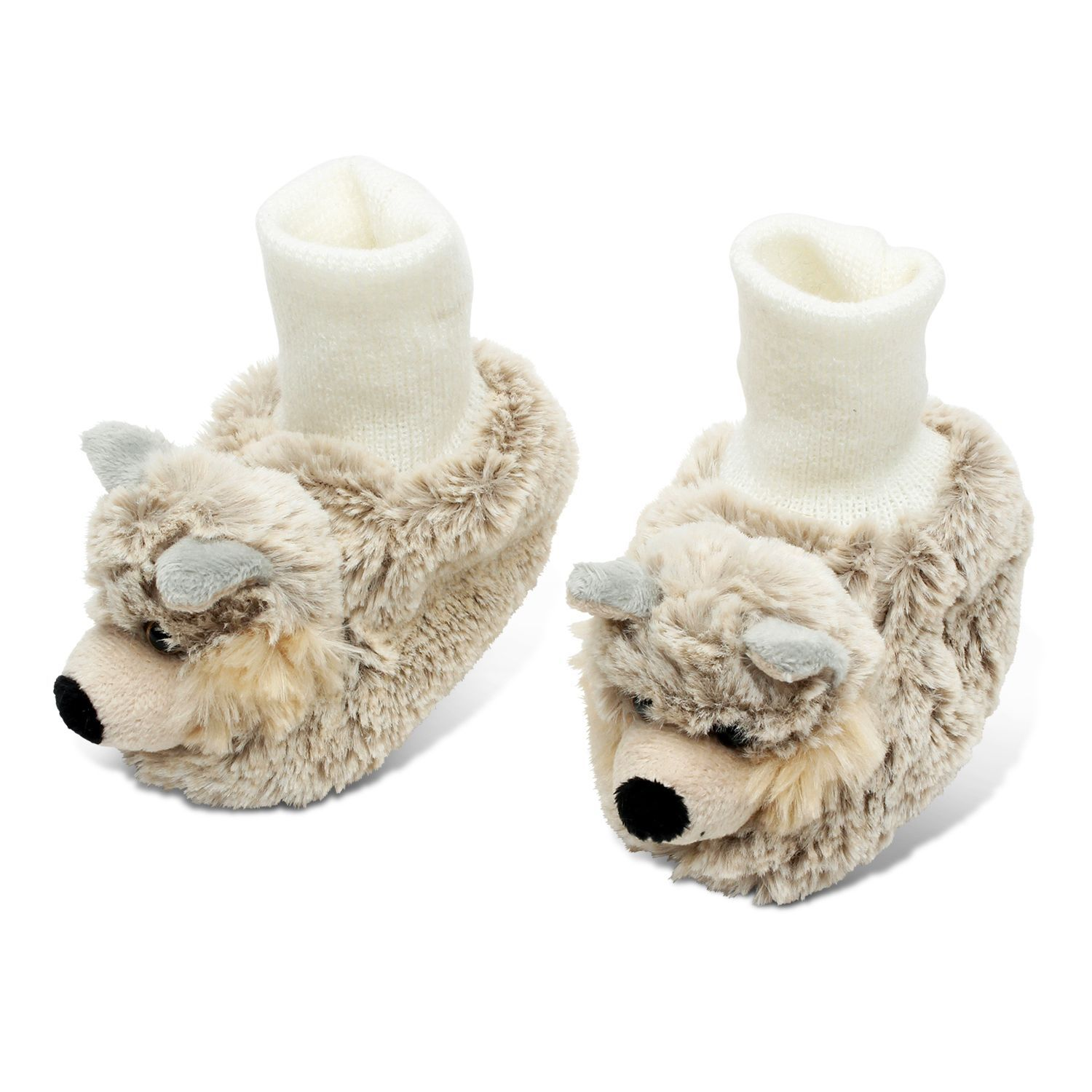 Warm up your baby s feet with this cozy pair of plush shoes The
