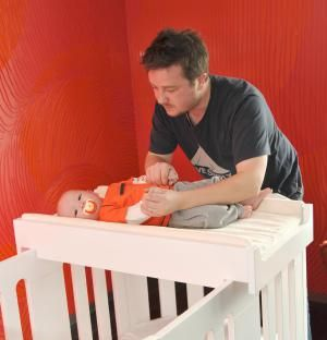 Save Space In Your Nursery With These Clever Changing Tables Small Space Nursery Baby Changing Tables Tiny Nursery
