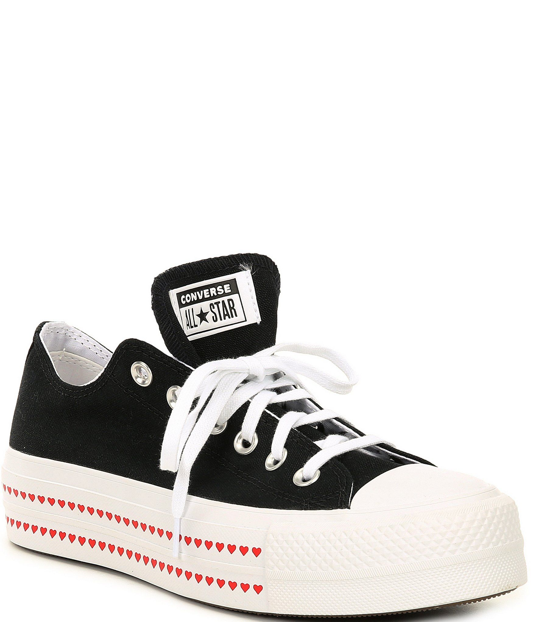 converse all star platform canvas