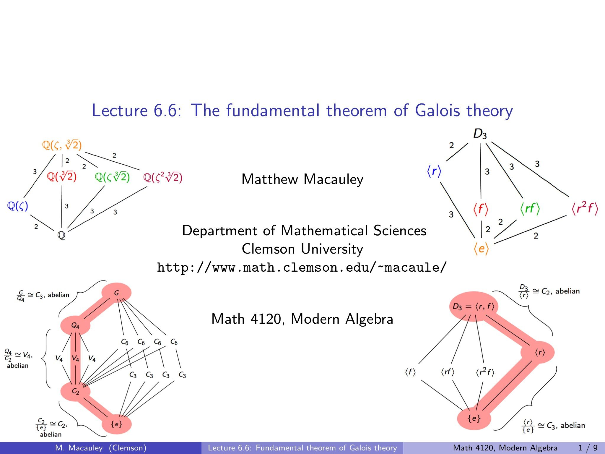 Visual Group Theory Lecture 6 6 The Fundamental Theorem