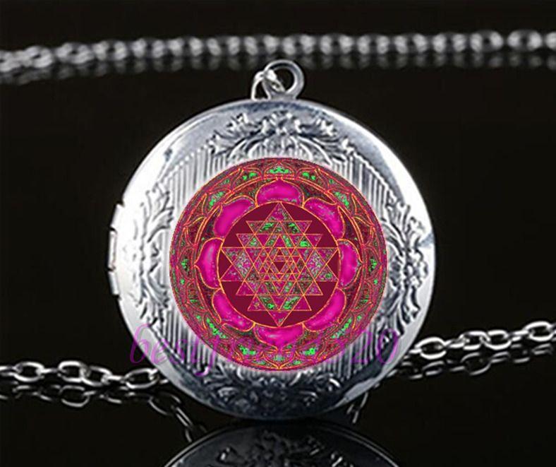 Cabochon Glass Tibet Silver Chain Pendant Necklace