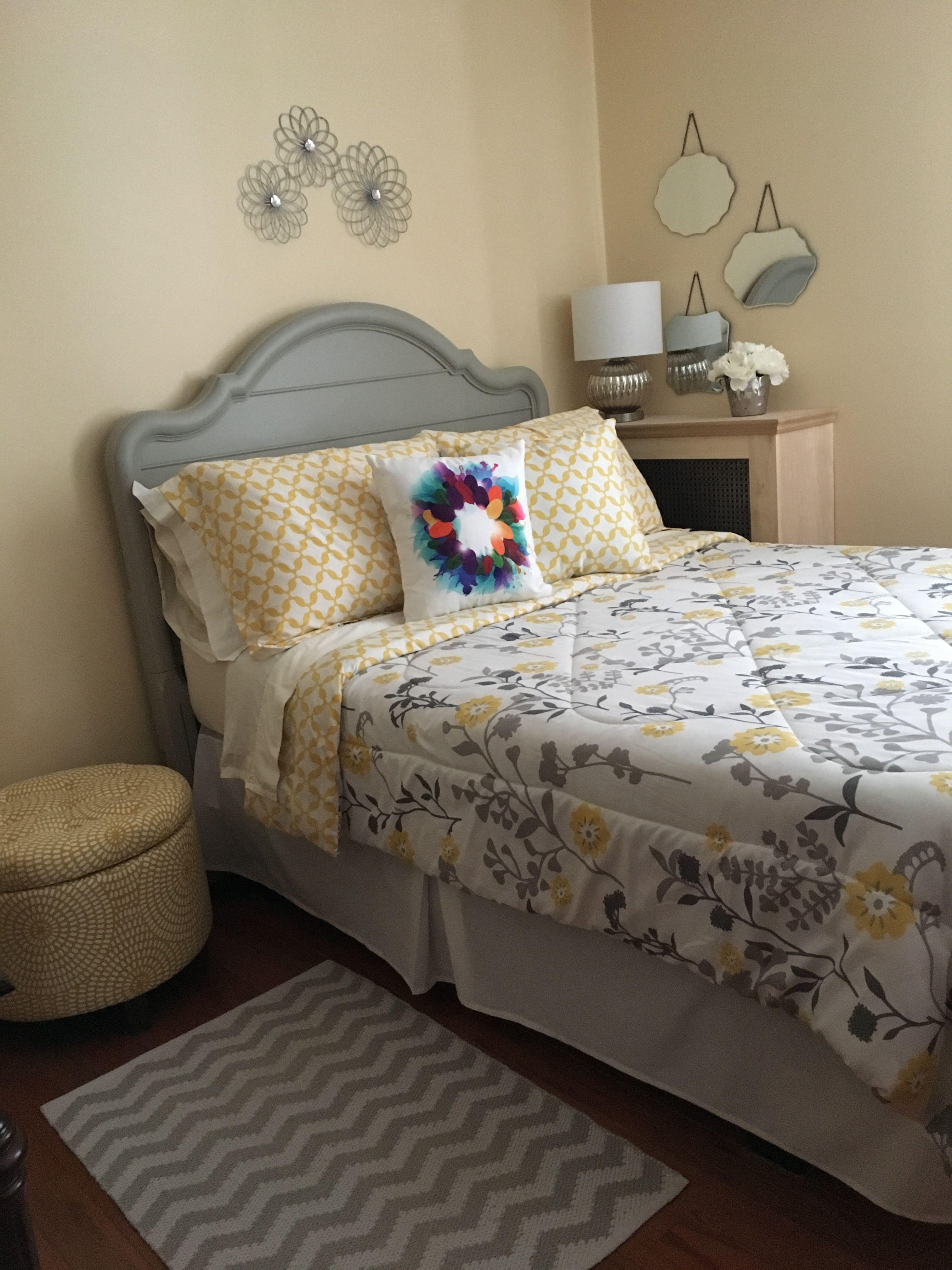 yellow and grey bedroom  grey bedroom home decor bedroom