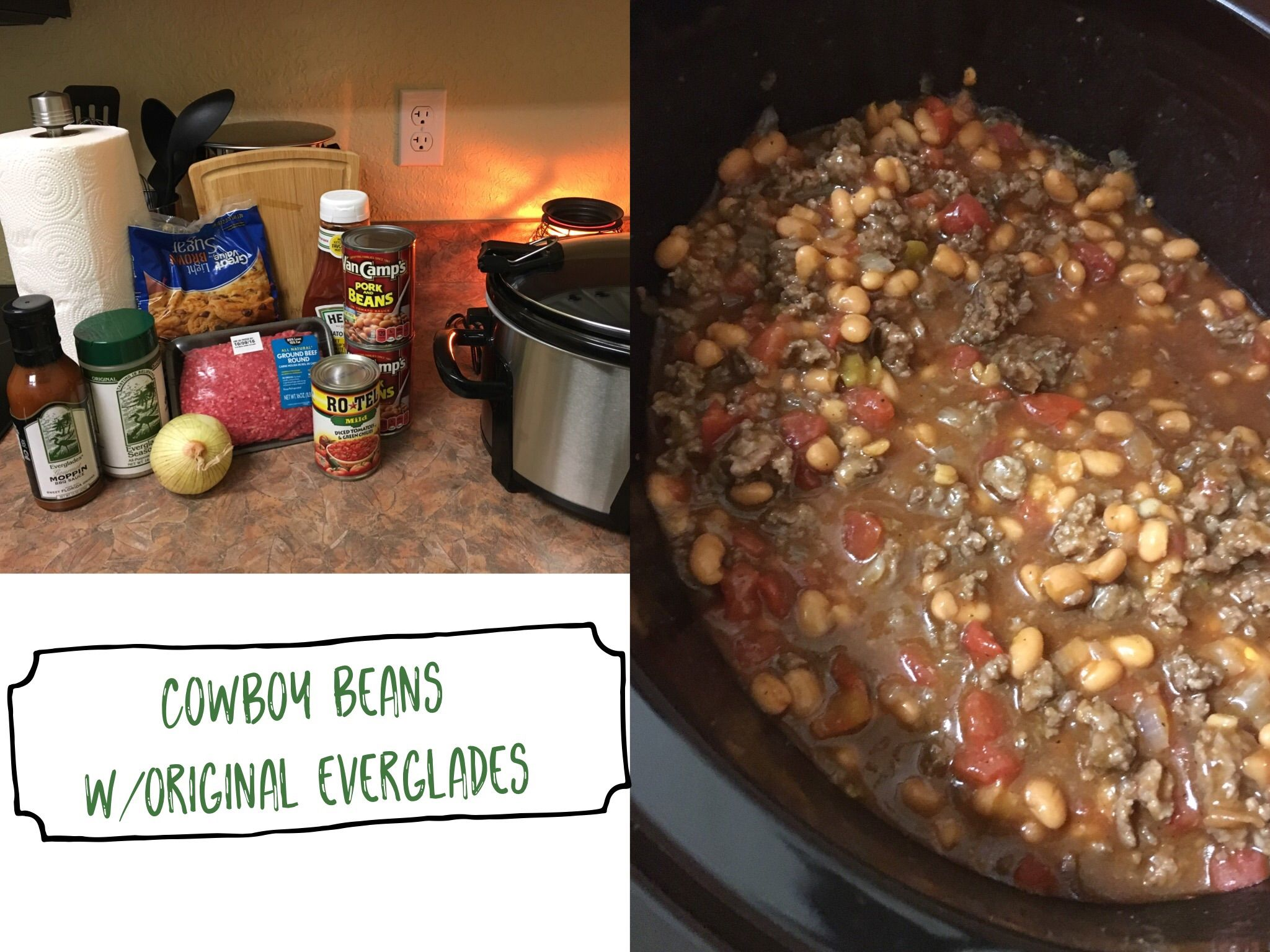 Everglades Cowboy Beans are great to take to a cookout or as
