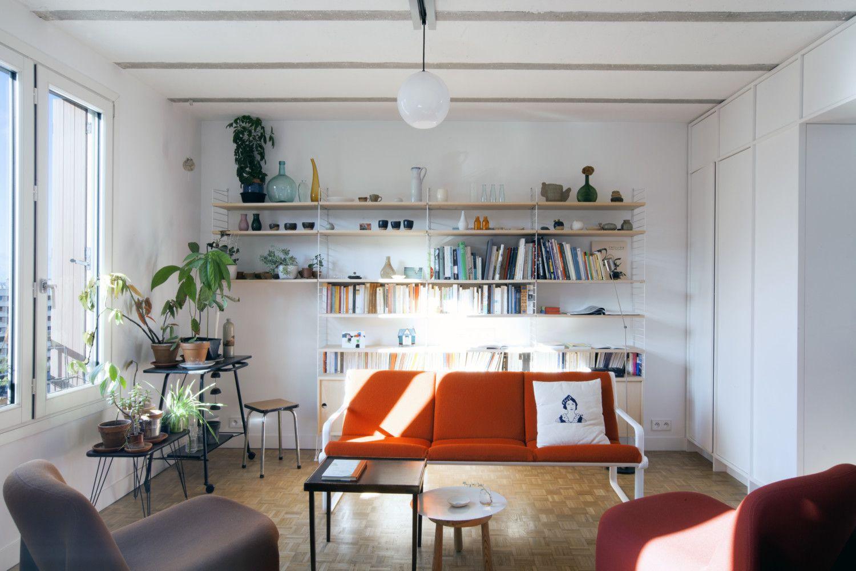 Esprit Fifties 53 M Sur Les Hauts De Paris Decoration Maison Interieur Cabinet Architecte