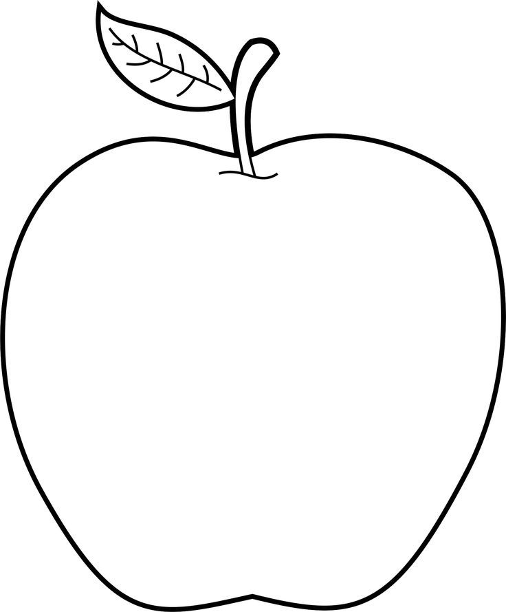 Alphabet Clipart A H Freebies Apple Clip Art Clip Art Fruit Coloring Pages