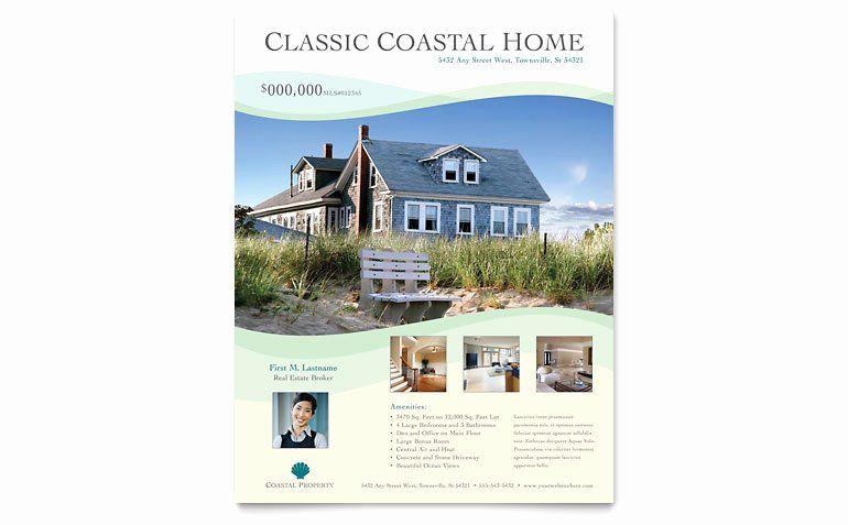 Real Estate Flyer Template Word Fresh Coastal Real Estate Flyer Template Word Publisher Real Estate Flyer Template Real Estate Brochures Flyer