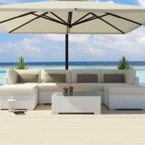 Uduka Outdoor Sectional Patio Furniture White Wicker Sofa Set Diani Off All Weather Couch Garden