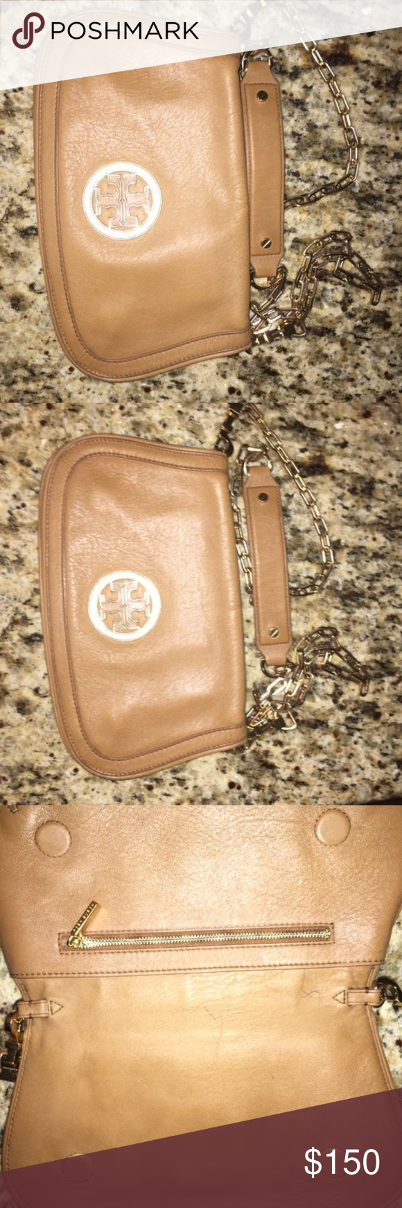 Tory Burch cross body In good condition. Has some pen scratches from inside only. Tory Burch Bags Crossbody Bags