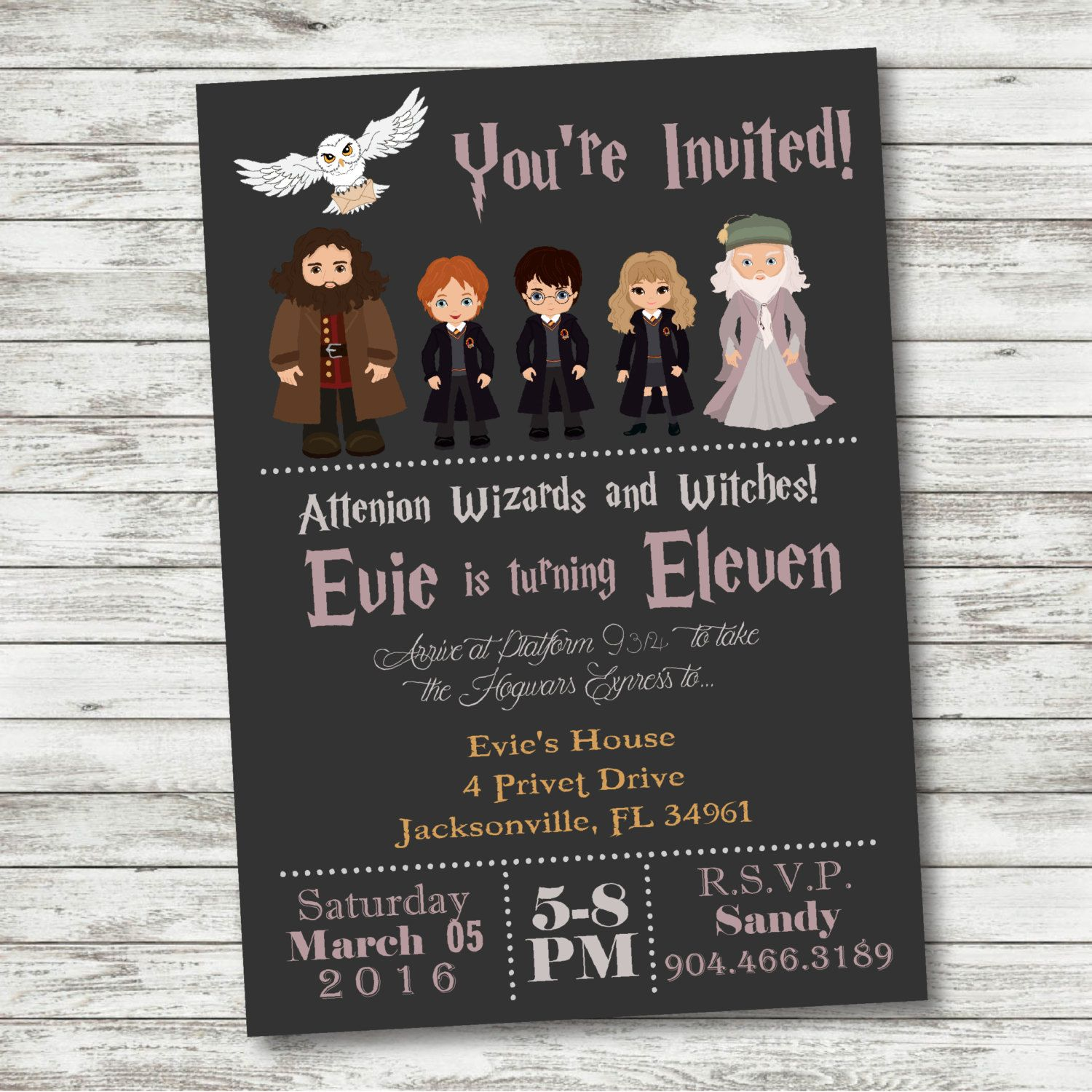 Harry Potter Birthday Invitation | Harry potter birthday, Harry ...