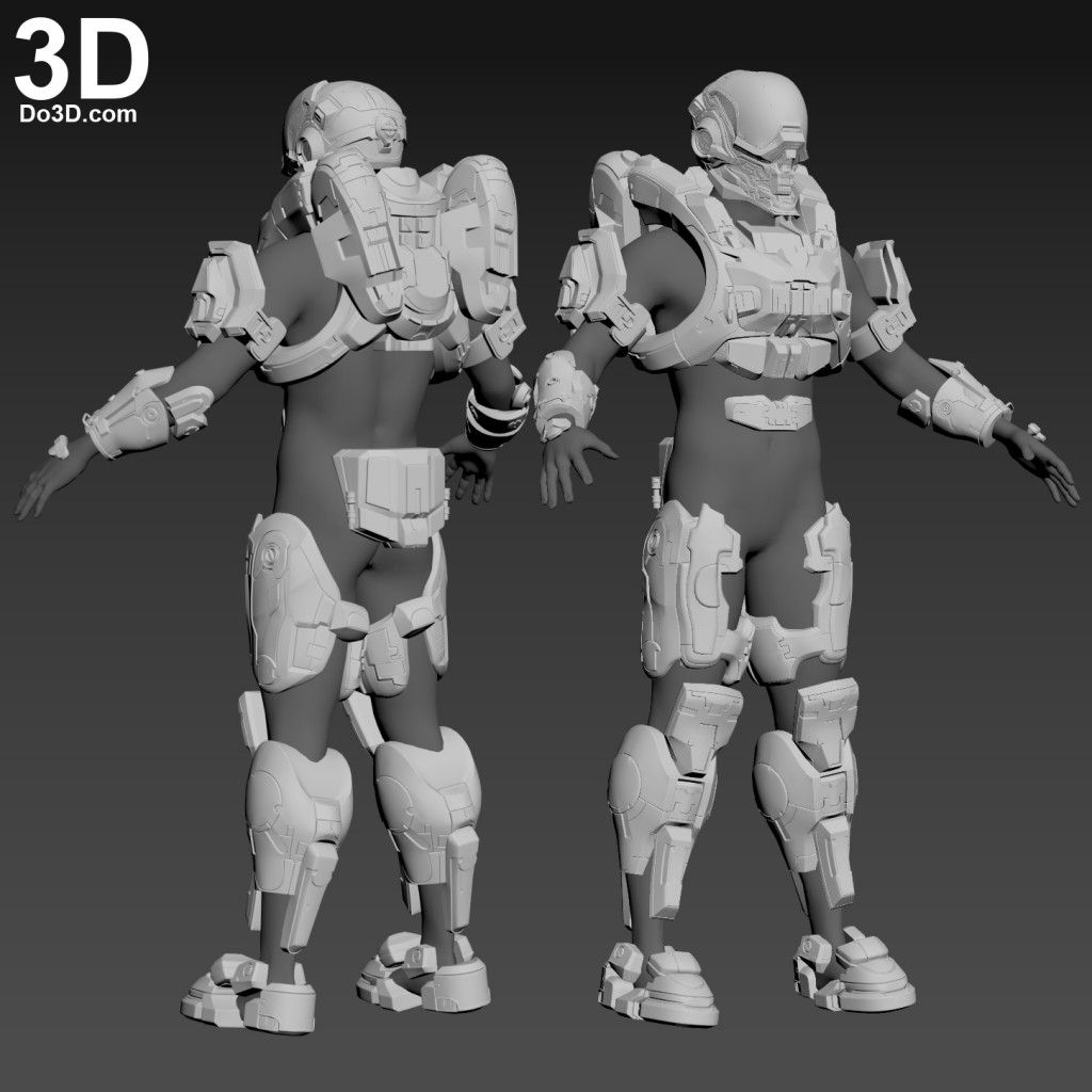 3D Printable Model: Halo Locus Helmet and Full Body Armor