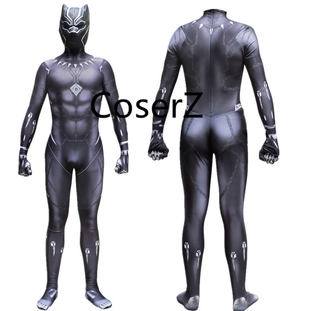 Black Panther Costume T Challa Wakanda King Cosplay Costume Jumpsuit Zentai Mask Black Panther Costume Panther Costume Cosplay Costumes