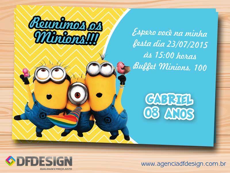 Convite De Aniversário Minions Grátis Para Imprimir