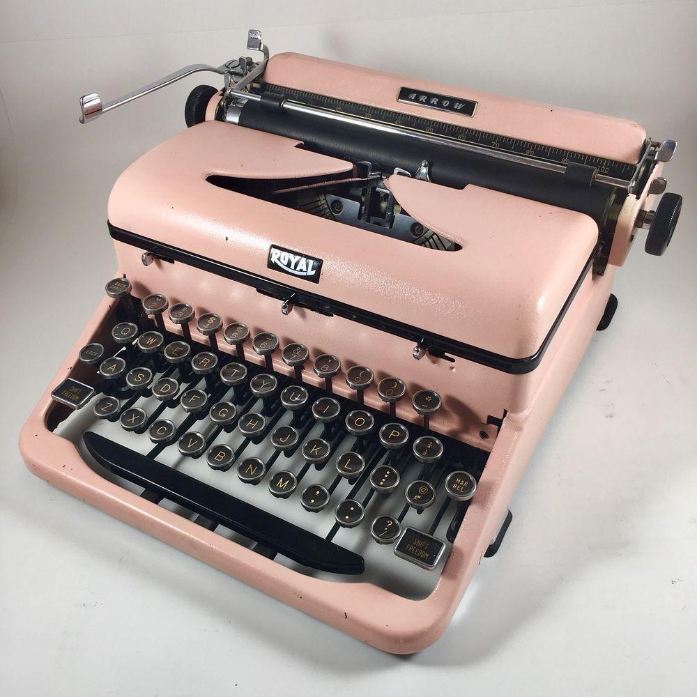 Restored Hemingway 1940 Pink Royal Arrow Typewriter Case Ribbon Offers Welcome Royal Typewriter Writing Tools Restoration