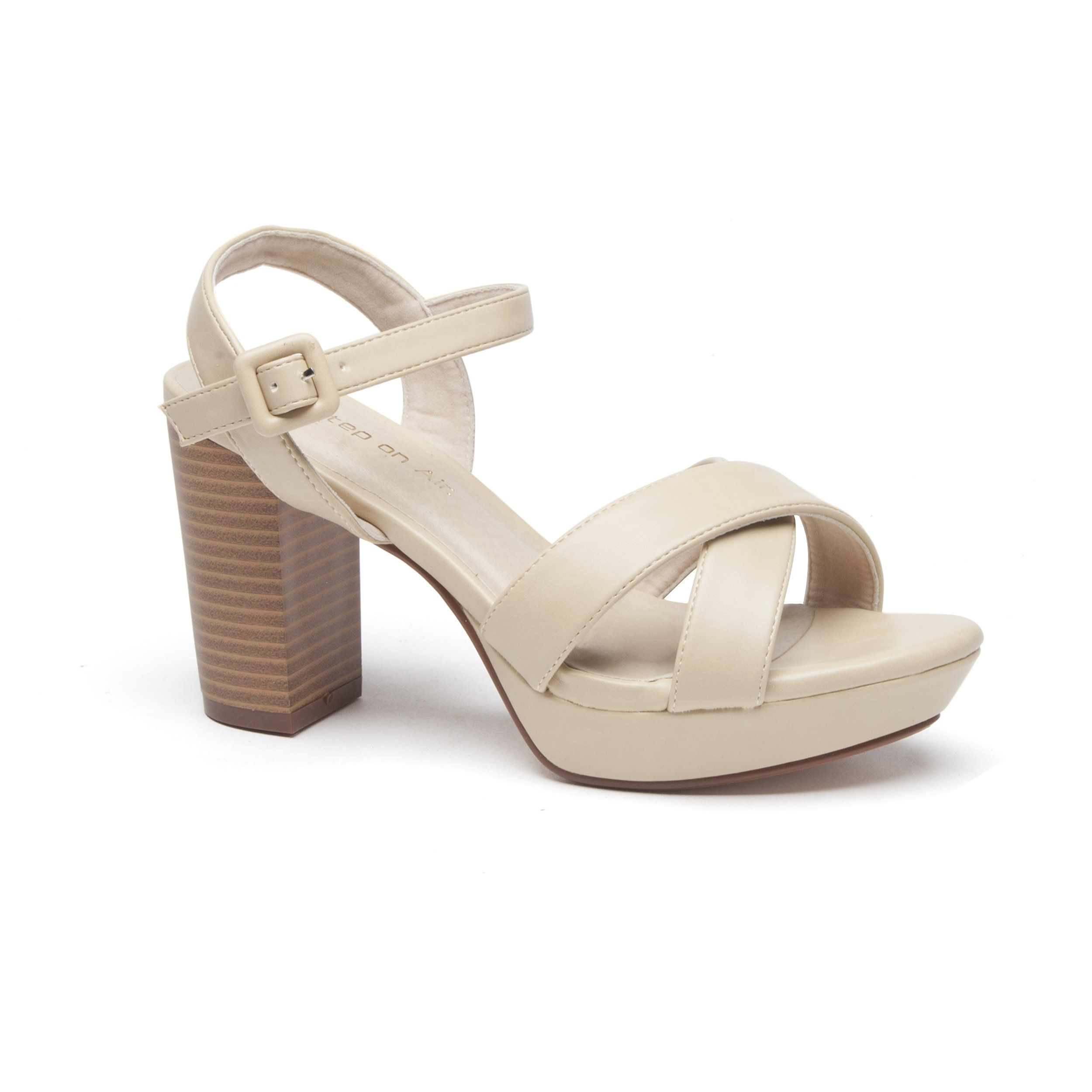The Wilco Dress Sandals By Step On Air Are A Wide Fit Design Featuring Two Cross Over Straps Across The Toe A Thin An Number One Shoes Buy Shoes Dress Sandals