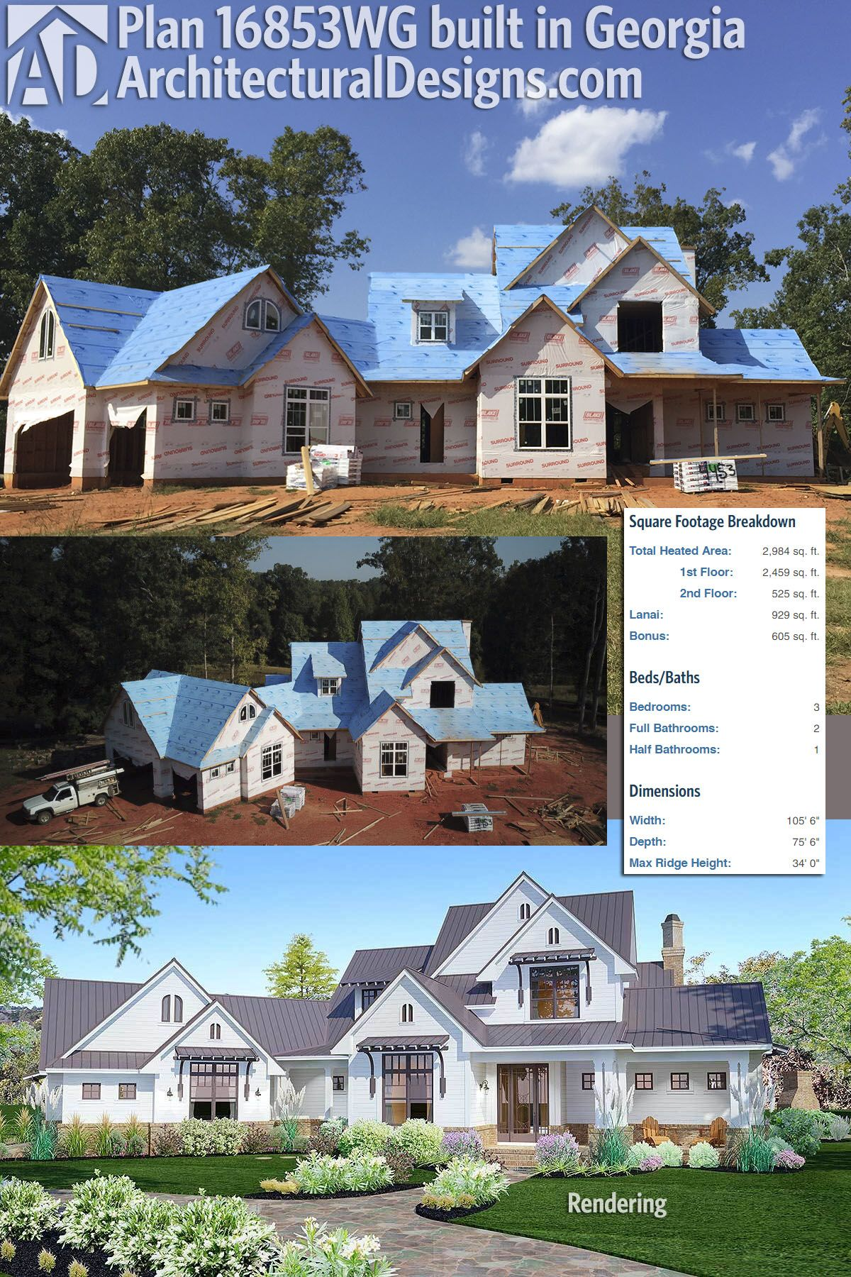 Plan 16853wg Elegant Farmhouse Living In 2018 House Plans With
