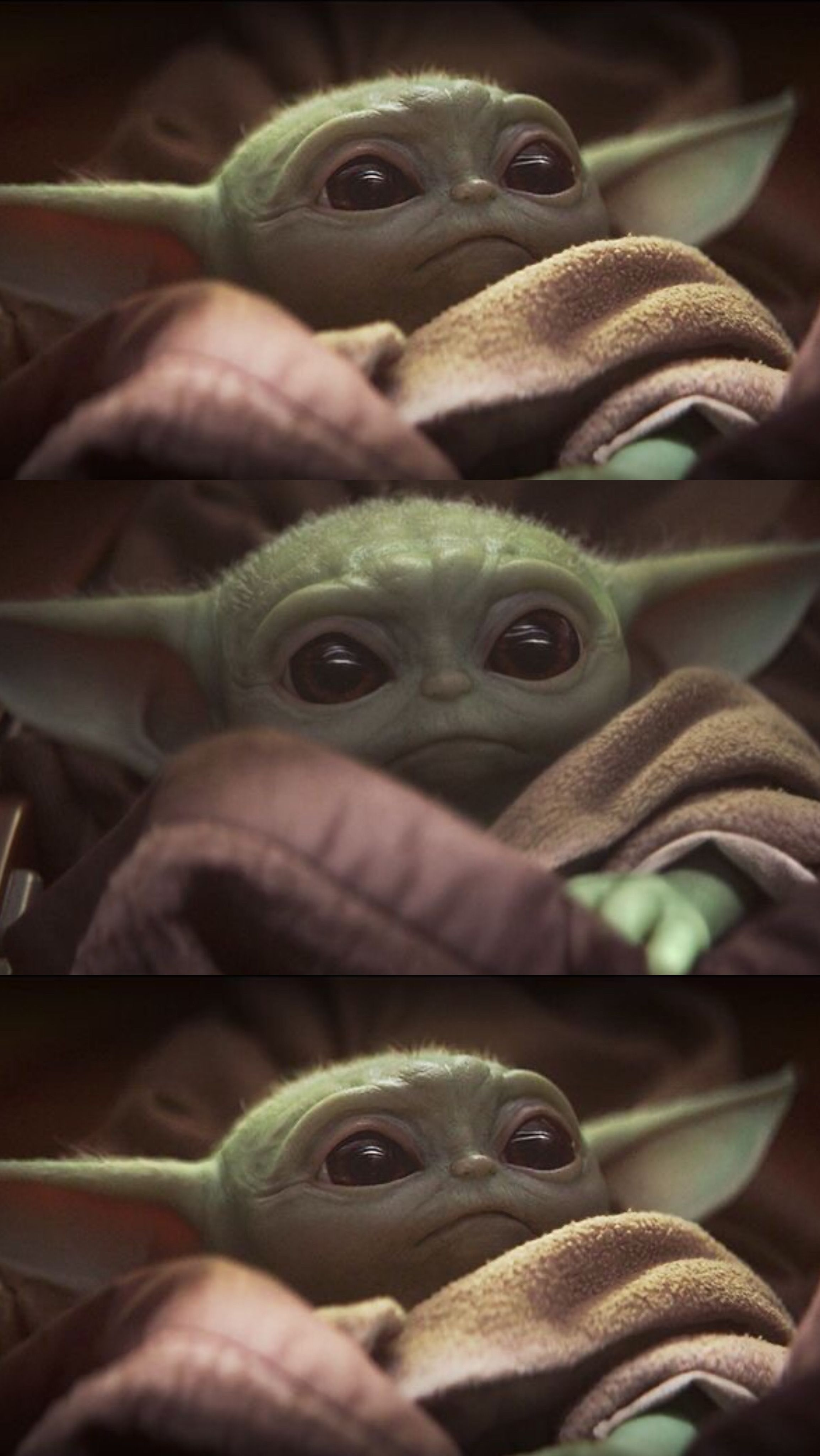 Cute baby yoda mandalorian iPhone wallpaper 4k
