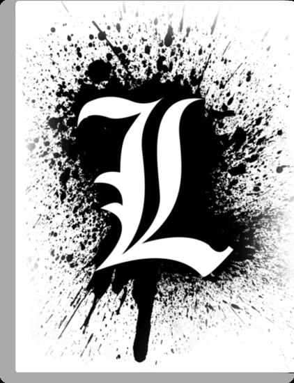 Death Note Ls Symbol Splater Ver By Ninjaza Death Note