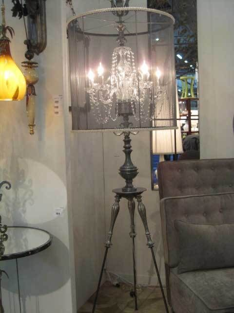 Shabby Chic Chandelier Shades | Chandelier Floor Lamp, Shabby Sophisticated  Chic Crystal Chandelier .