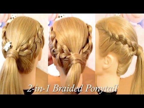 2 In 1 Braided Ponytail French Braiding Styles Braided Hairstyles Braided Ponytail French Braid