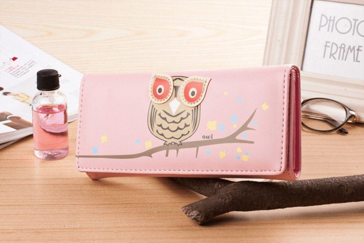 Cute Owl Long Women's Wallet