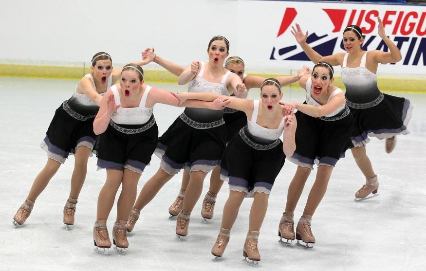 Gold Figure Skating Pass Synchronized skating, Figure