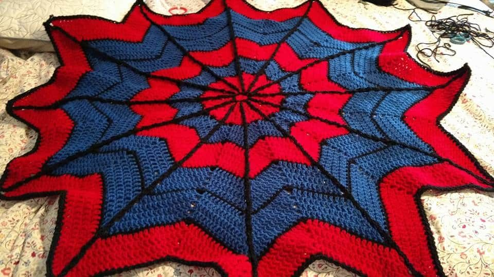 Spiderman Knitted Blanket Free Pattern | Spiderman, Blanket and ...