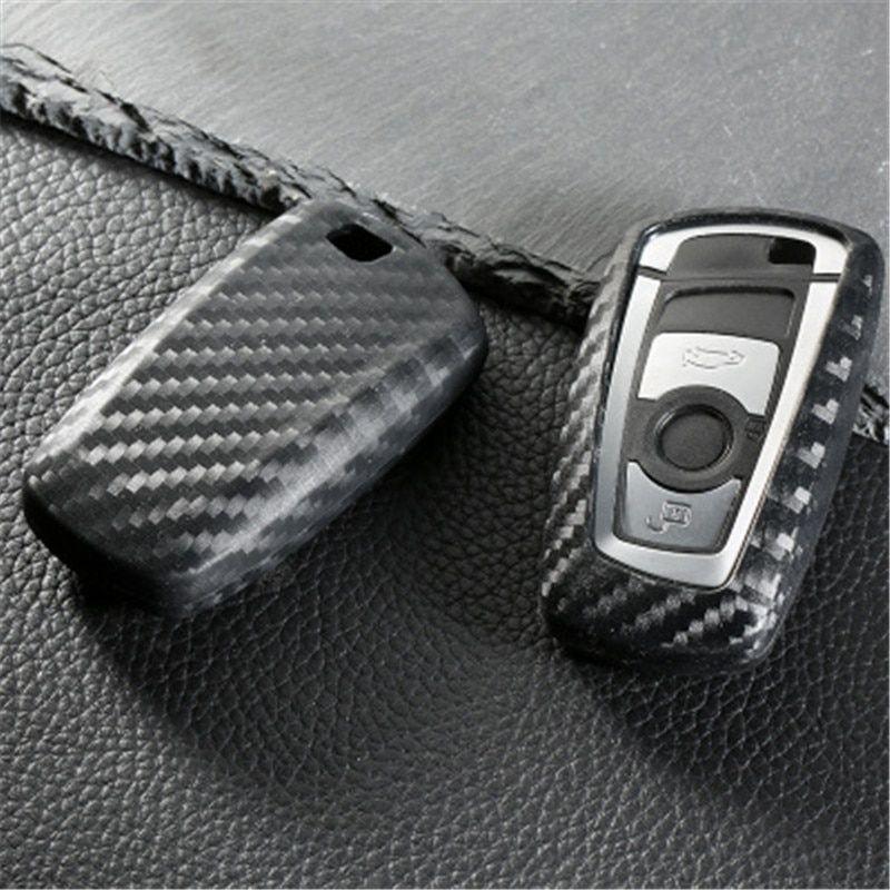 Peacekey Carbon Fiber Color Car Key Case Cover Shell For Bmw F10