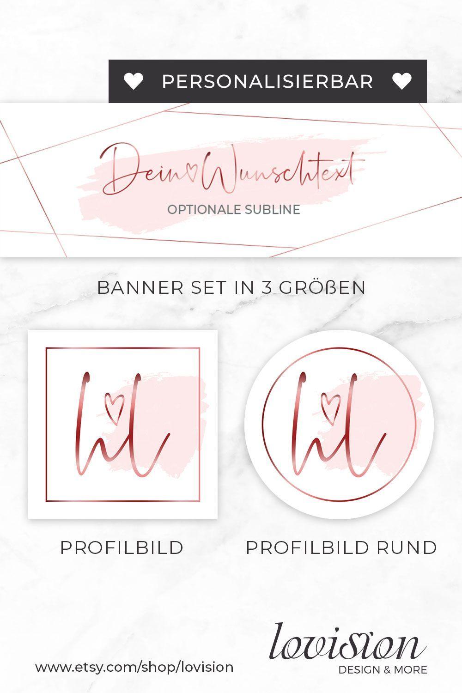 Social Media Branding Kit Facebook Titelbild Banner Set Profilbild Instagram Vorlage Cover Foto In 2020 Profilbild Design Set Profilbilder