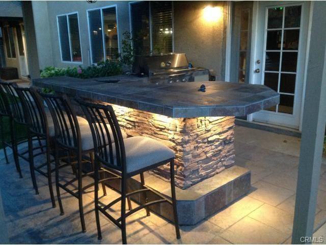 Bbq Island Lighting Idea Outdoor Kitchen Patio Backyard Kitchen Backyard Remodel