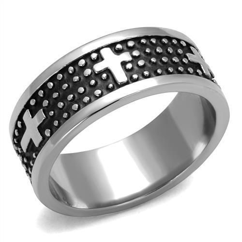 Details about Silver Punk Rock Men's Ring FTW 316L Stainless