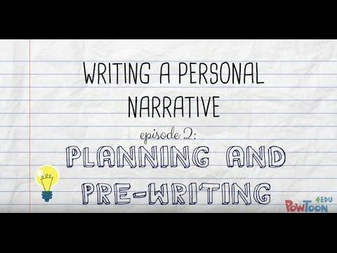 Writing a Personal Narrative Planning \ Pre-Writing a Story for - youtube how to write a resume