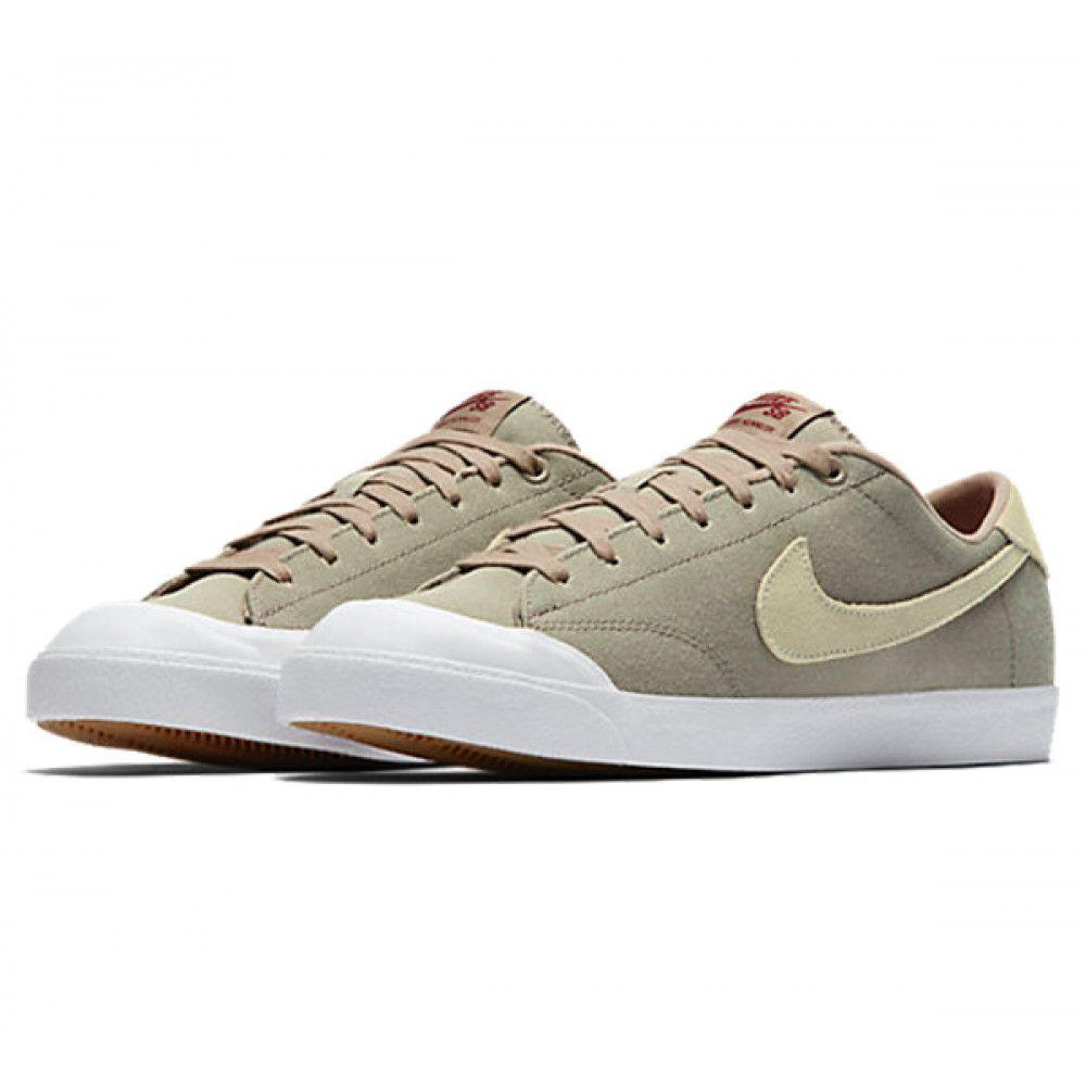 promo code 261f9 c29dd Nike SB Zoom All Court CK khaki mushroom-white-gum light brown -