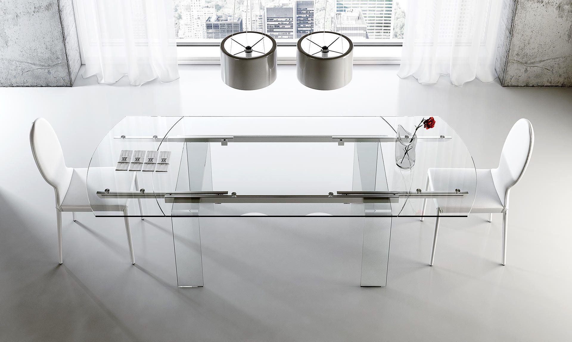Tavolo ovale allungabile in vetro Lord Tavolo ovale ...