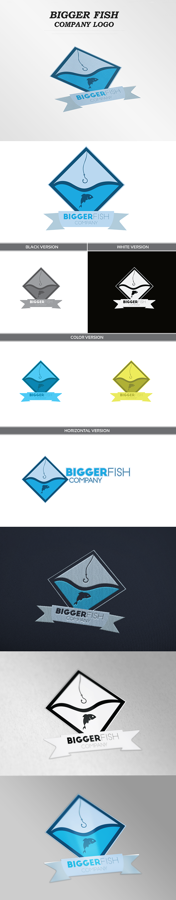 Bigger Fish Co. Logo on Behance