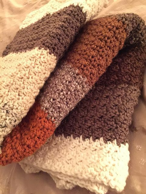 Easy Texture Lap Blanket: FREE crochet pattern by Elaine W ...