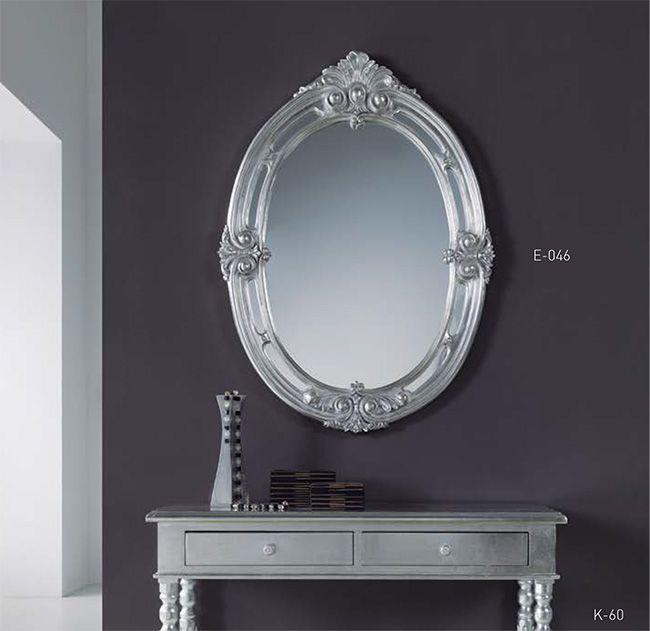 espejo ovalado en plata espejos ovalados espejos plateados ovalados espejos retro en plata - Espejos Plateados
