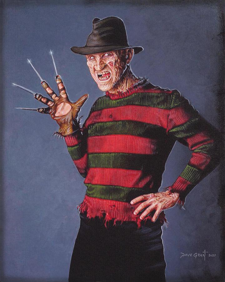 Freddy Krueger Painting By David Grant Painting Freddy Krueger Art
