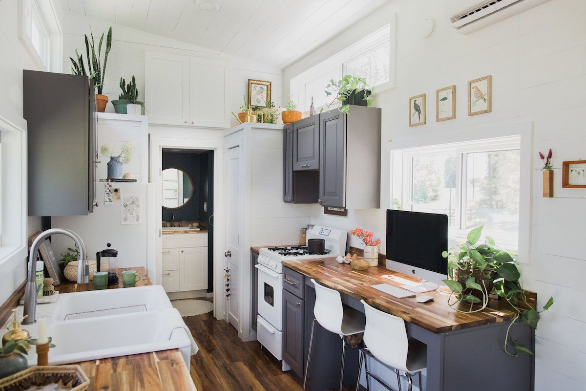 An Inside Look At This Photographer S Impeccably Designed Tiny House Tiny House Kitchen Small House Kitchen Design House Design Kitchen