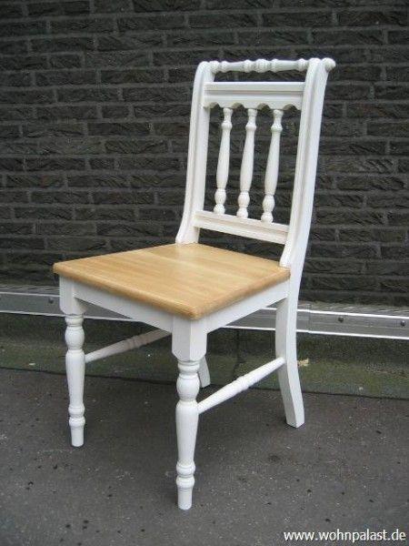 Landhaus Stuhl Massivholz Zweifarbig Stuhl Landhaus Stuhle Tisch Und Stuhle