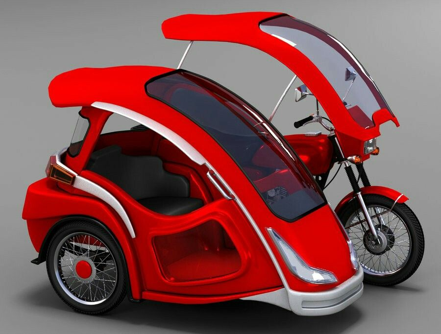 Tricycle | Sidecars | Tricycle motorcycle, Red tricycle