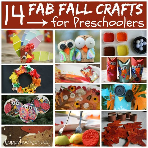 Fall Crafts for Kids to Make | Happy hooligans, Simple crafts and Craft