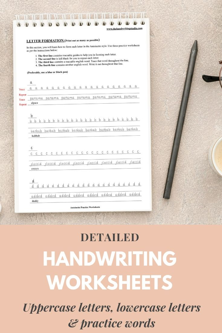 Handwriting Practice Sheets Lowercase Uppercase